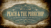 GOLD Peach and the Porkchop Logo